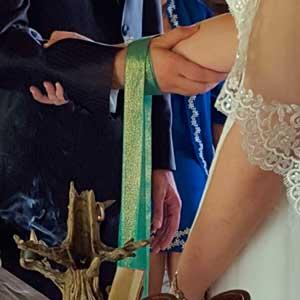 Ceremonia de la union de manos